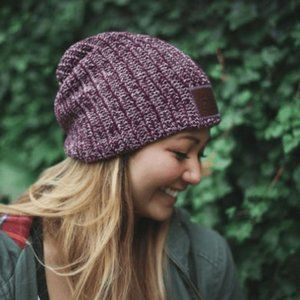 Love Your Melon | Maroon & Natural Speckle Beanie